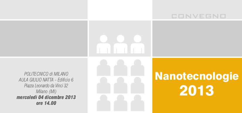 Convegno nanotecnologie 2013 dollmar meccanica s r l for Politecnico milano iscrizione