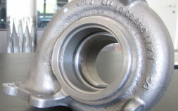 The targeted washing of cast iron turbines